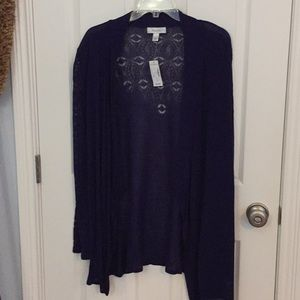 Cardigan size L  airy back and sleeves NWT
